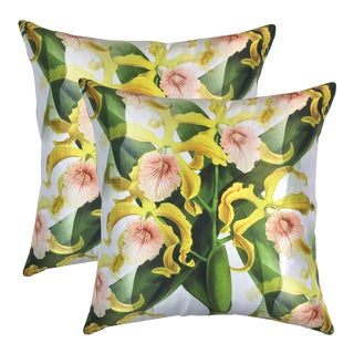 Orchid Grandis Pillows - a Pair For Sale