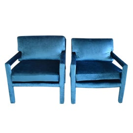 Image of Velvet Side Chairs