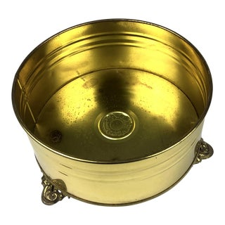 Vintage Brass Ftda Nijhof Zevenaar Planter Made in Holland For Sale