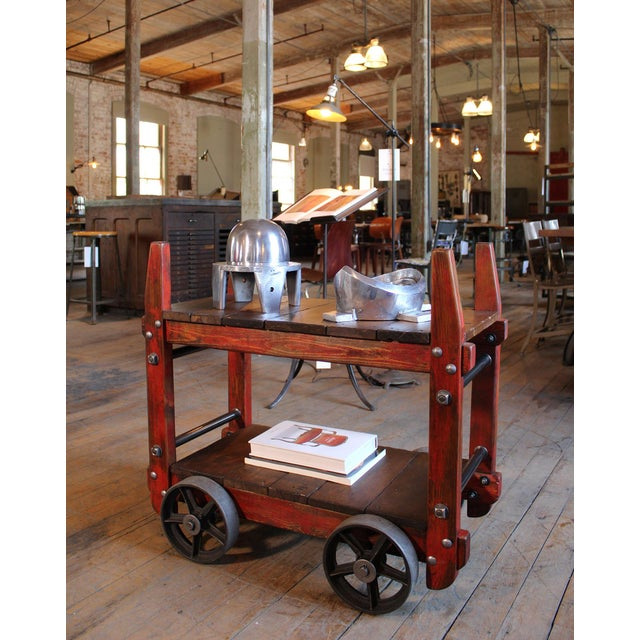 Early 20th Century Industrial Bar Cart For Sale - Image 5 of 12