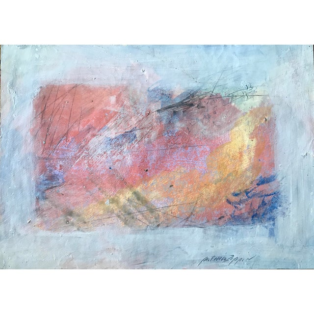 1980s Abstract Bay Area Artist Pink and Purple Fade For Sale