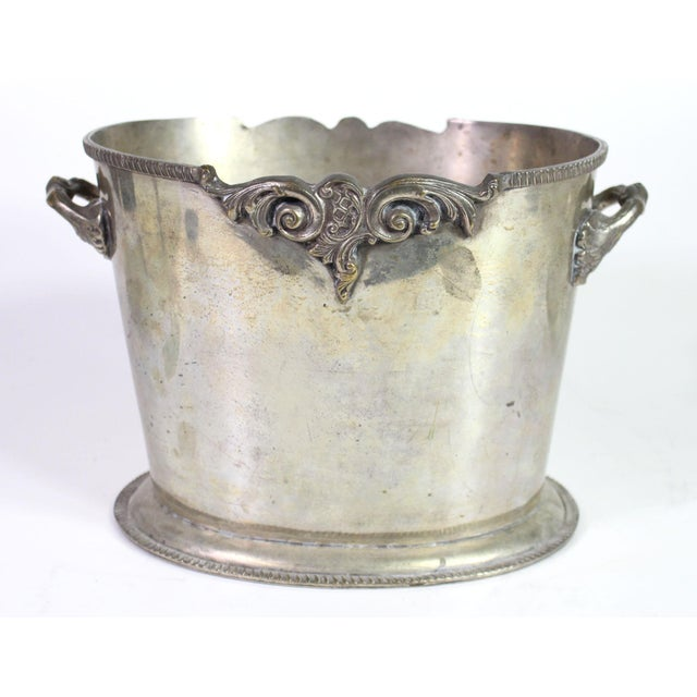 20th Century Heavily Silver Plated British Colonial Wine Cooler For Sale - Image 4 of 4