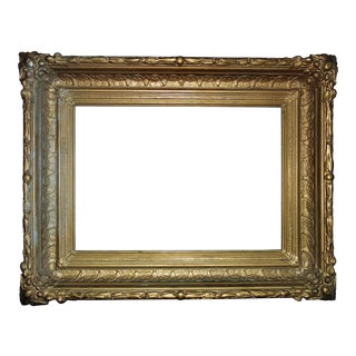 19th Century Victorian Gilt Wood & Gesso Picture Frame For Sale