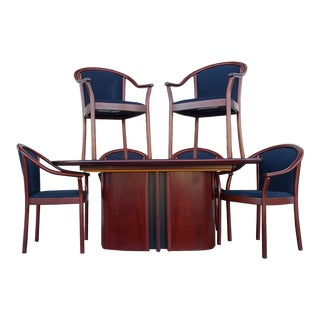 Late 20th Century Skovby Rosewood Dining/Conference Set - 7 Pieces For Sale