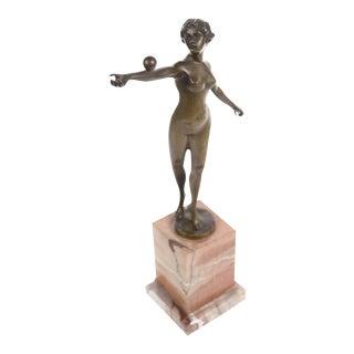 Art Nouveau Nude Female Bronze Sculpture For Sale