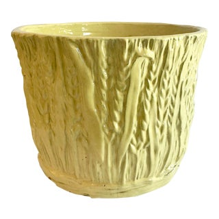 1960s Large Yellow Cache Pot For Sale