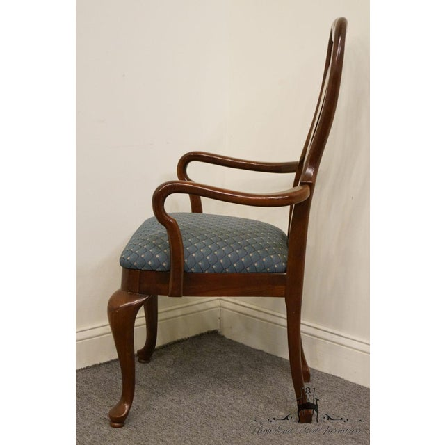 Late 20th Century Vintage Thomasville Furniture Collectors Cherry Arm Chair For Sale - Image 10 of 13