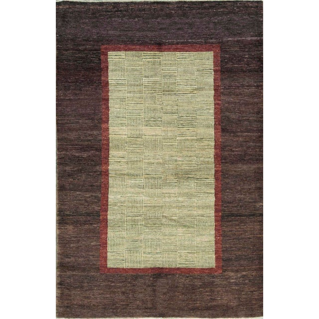 Contemporary Hand Woven Wool Rug - 5'10 X 9' For Sale - Image 4 of 4