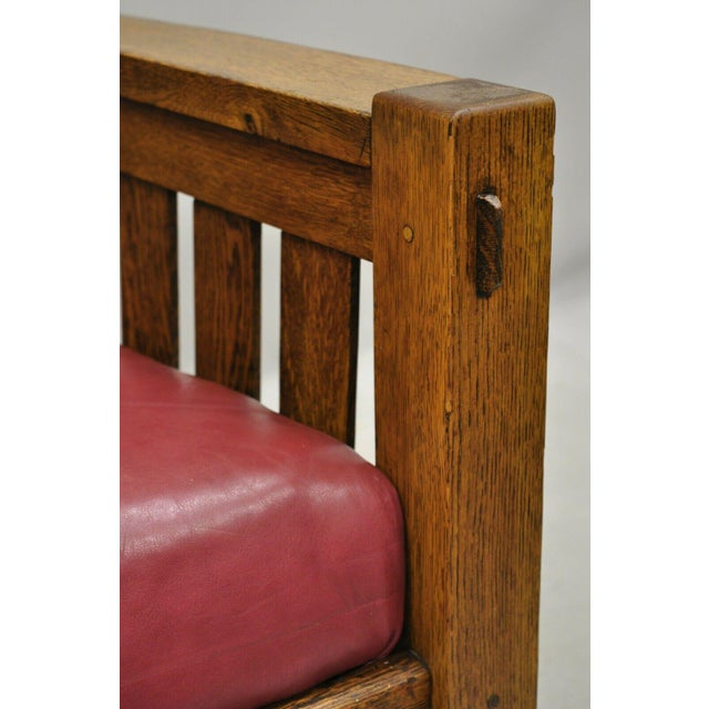Brown Early 20th Century Harden Mission Oak Arts & Crafts Stickley Style Rocking Chair Rocker Armchair For Sale - Image 8 of 13