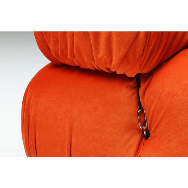 Orange 1970s Camaleonda Sectional Sofa in Bright Orange For Sale - Image 8 of 9