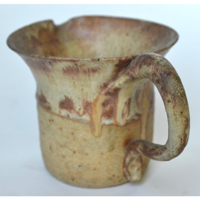 1970s Mid Century Studio Pottery Pitcher 1974 For Sale - Image 5 of 7
