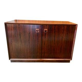 Vintage Danish Modern Rosewood Credenza Cabinet 1960's For Sale