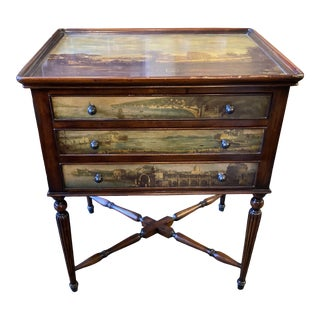 Theodore Alexander Accent Table With Decoupage Landscapes For Sale
