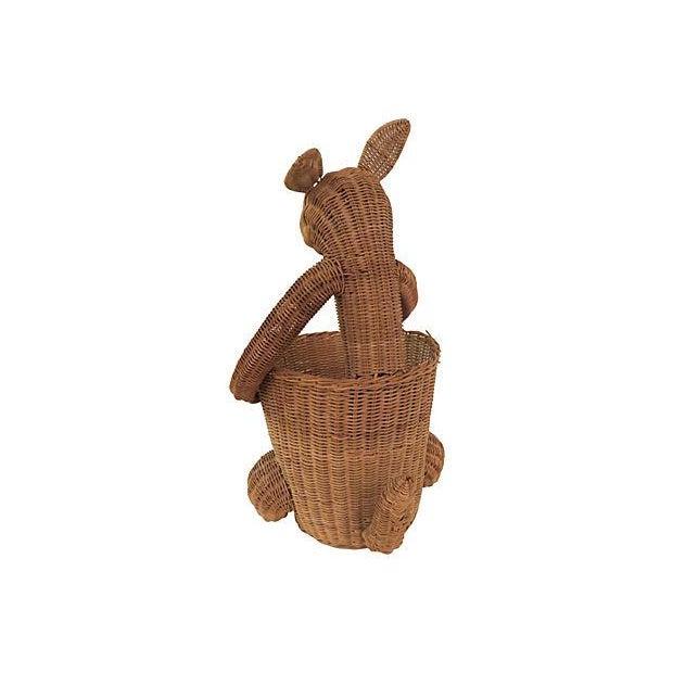 Vintage Rattan Kangaroo Basket - Image 4 of 8