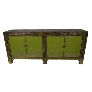 1890's Green Mongolian Sideboard For Sale