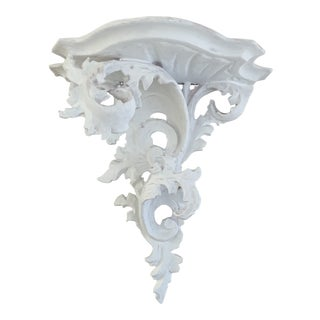 White Italian Decorative Wall Bracket For Sale