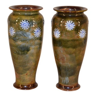 1910 Vintage Royal Dolton Vases - a Pair For Sale