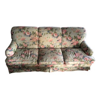 French Floral Upholstered Couch For Sale