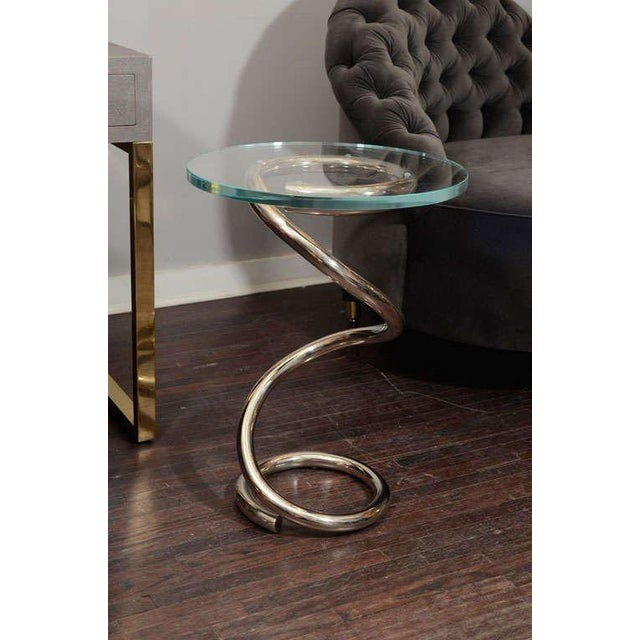 Silver Custom Spring Table For Sale - Image 8 of 8