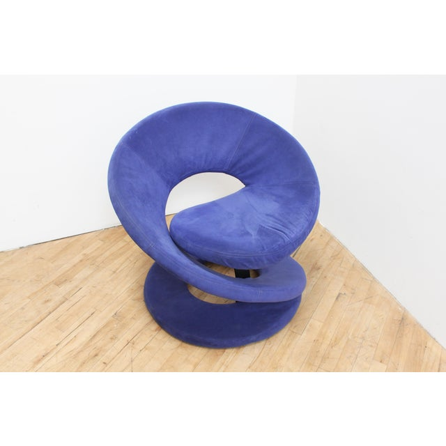 1980s Spiral Ribbon Club Chair From Jaymar- Lois Durot Style For Sale - Image 5 of 8