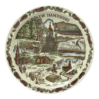 Vintage New Hampshire Souvenir Plate For Sale