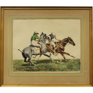 """""""French Polo II"""" Engraving by Louis Claude For Sale"""