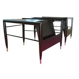 John Keal for Brown Saltman Wedge Side Tables For Sale