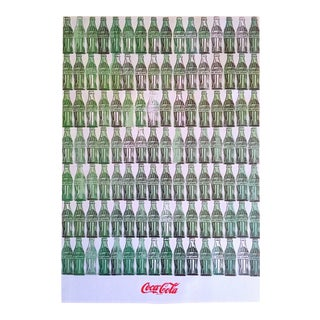"Andy Warhol Foundation Vintage 1999 Pop Art Lithograph Calendar Print "" Green Coca - Cola Bottles "" 1962 For Sale"