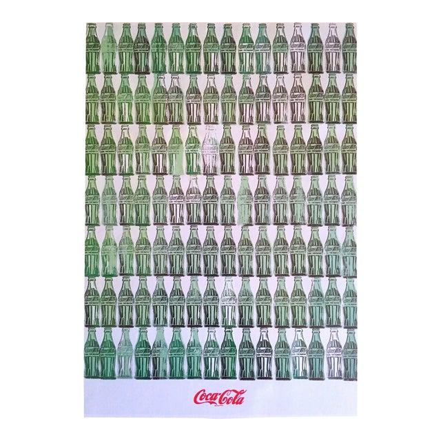 "Andy Warhol Foundation Vintage 1999 Pop Art Lithograph Calendar Print "" Green Coca - Cola Bottles "" 1962 For Sale"