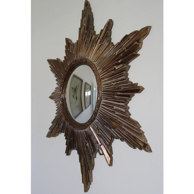 Mid-Century Convex Sunburst Mirror For Sale - Image 6 of 7
