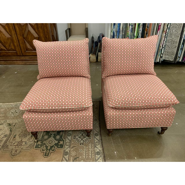Thibaut Richmond chairs / pair. Done in Thibaut Fabric. Showroom sample, never used other than as a sample. In perfect...