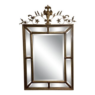 Uttermost Gold and Pewter Wall Mirror For Sale