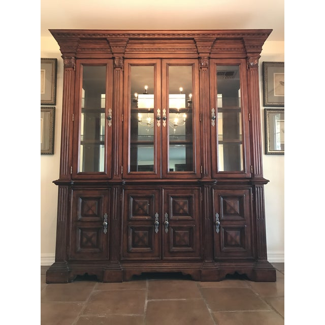 Traditional Large Lighted China Cabinet - Image 3 of 5