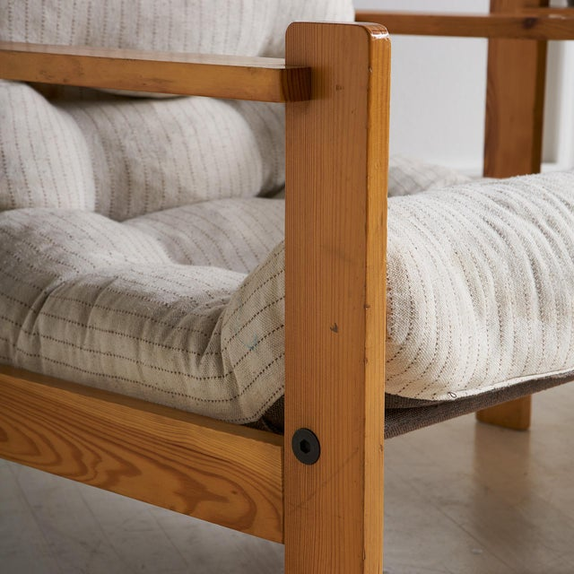 Mid-Century Modern Pair of European Wooden Lounge Chairs For Sale - Image 3 of 11