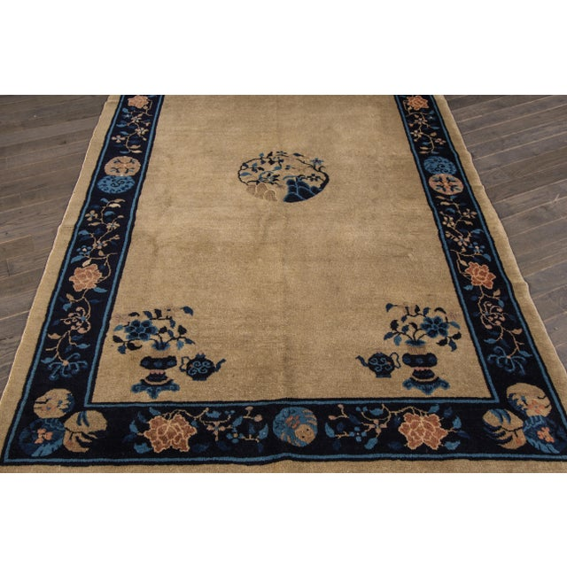 "Apadana Antique Chinese Deco Rug - 5' x 7'10"" For Sale - Image 4 of 7"