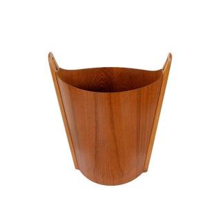 1960s Vintage Einar Barnes for P.S. Heggen Danish Modern Wastepaper Basket For Sale