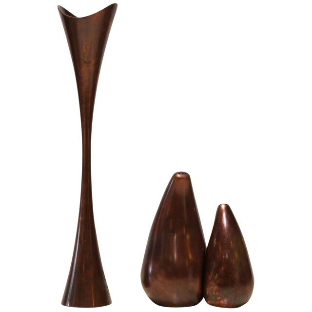 Nambe Patinated Copper Kitchenware - Set of 3 For Sale