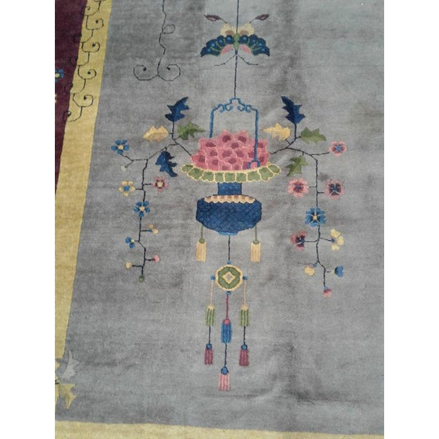 1910s Early 20th Century Antique Chinese Rug - 12′ × 17′ For Sale - Image 5 of 7