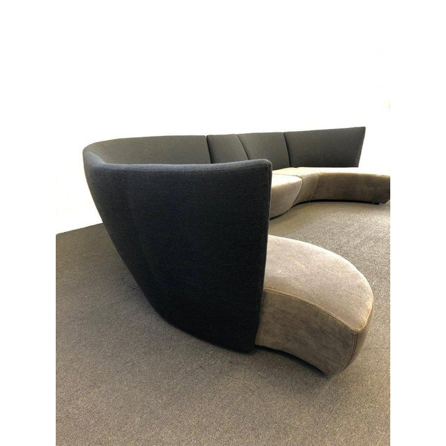 Gray Five Piece Sectional Sofa by Vladimir Kagan for Preview For Sale - Image 8 of 13
