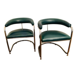 Chrome Cantilever Chairs in Style of Lorenz for Thonet - a Pair For Sale