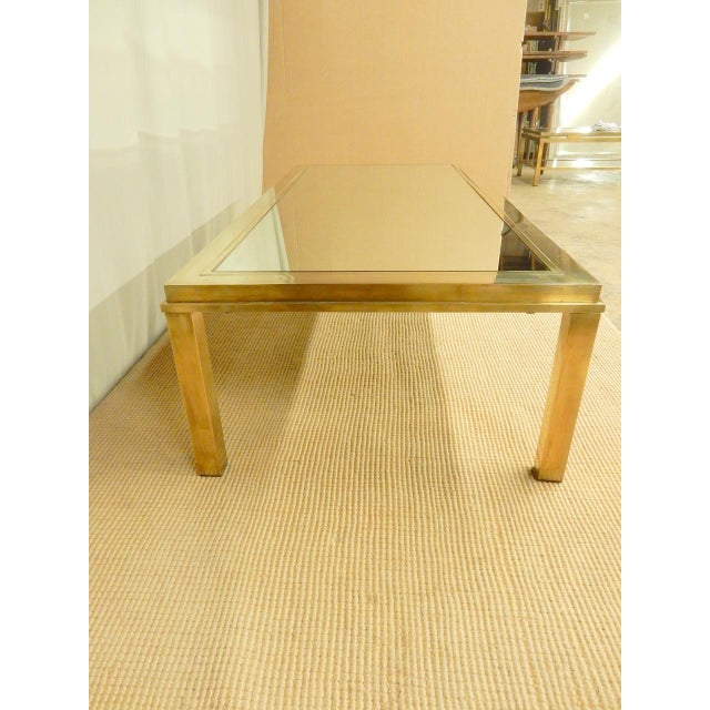 1970s Elegantly Mirrored Mid Century Modern Coffee Table For Sale - Image 5 of 6