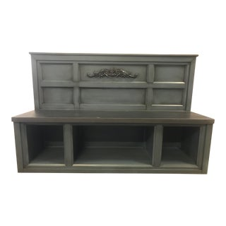 Charcoal Gray Entry Bench