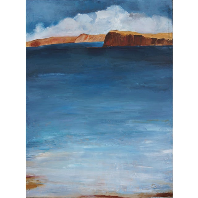 "Laurie MacMillan ""Bay Wading"" Abstract Seascape For Sale In Los Angeles - Image 6 of 6"