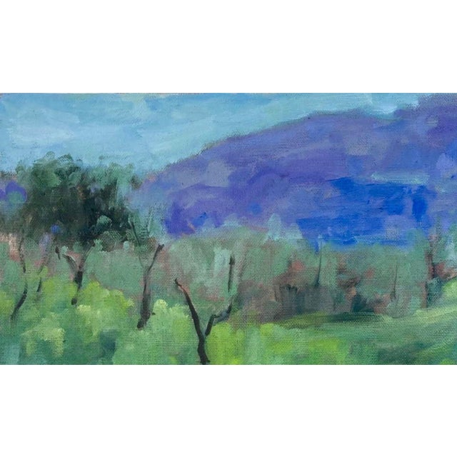 2020s A Room With a View Original Landscape Oil Painting For Sale - Image 5 of 12