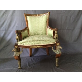 Antique Louis XVI Egyptian Revival Style Griffen and Sphinx Chairs - a Pair Preview