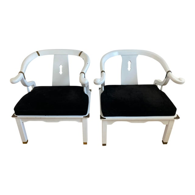 1960s Vintage James Mont Style Ming Chairs - a Pair For Sale