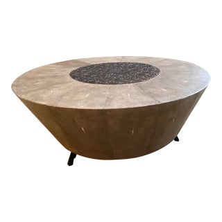 R&Y Augousti Contemporary Shagreen Coffee Table For Sale