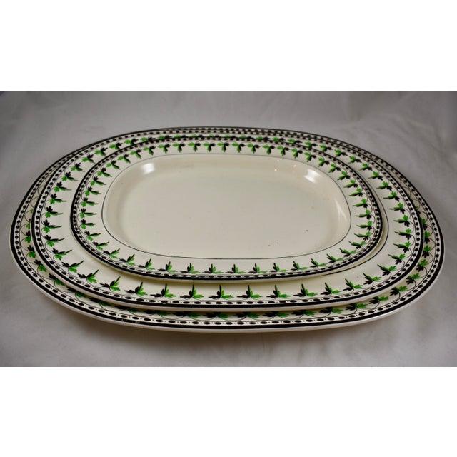 "Josiah Spode 19"" Creamware Hand Painted Fern & Dot Platter, 1785 For Sale - Image 9 of 11"