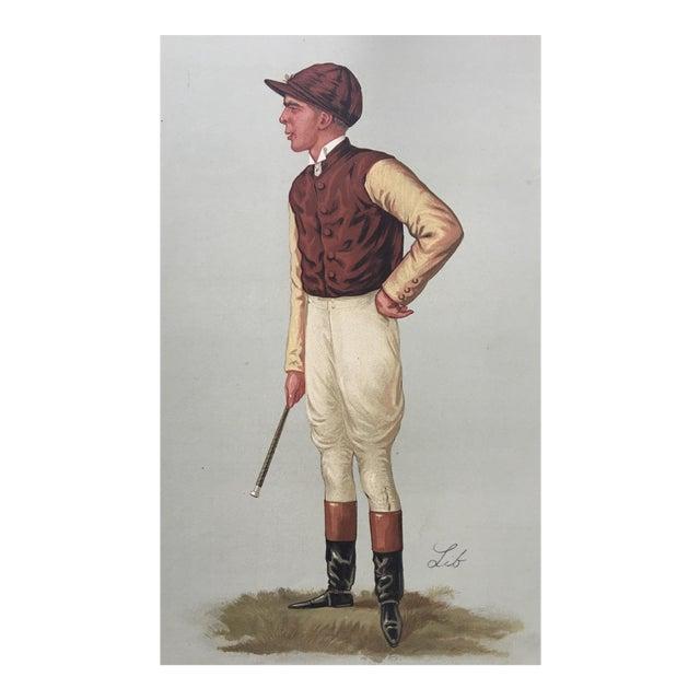 1887 Original Vanity Fair George Barrett Jockey Print - Image 1 of 3