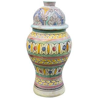 Antique Moroccan Lidded Urn For Sale